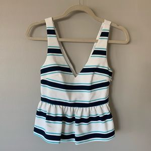 Striped Zara Peplum Tank